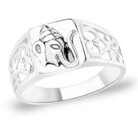 Sterling Silver  Divine Ganesha Finger Ring By Taraash