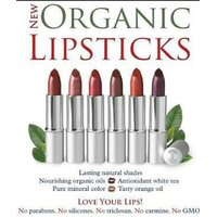 ONLY ORGANIC CERTIFIED  LIPSSTICKS IN INDIA (MADE IN USA)