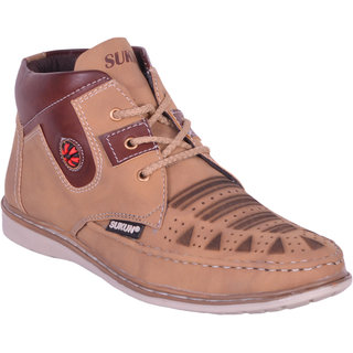 Sukun Beige Ankle Length Casual Shoes For Men (AMZ334BGH)