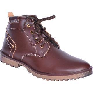 Sukun Brown Ankle Length Casual Shoes For Men (BBT123BRN)