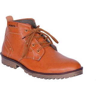 Sukun Tan Ankle Length Casual Shoes For Men (BBT123TAN)