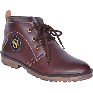 Sukun Brown Ankle Length Casual Shoes For Men (BBT301BRN)