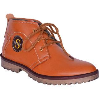 Sukun Tan Ankle Length Casual Shoes For Men (BBT301TAN)