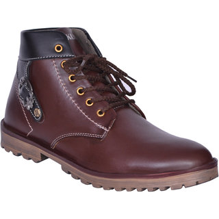 Sukun Brown Ankle Length Casual Shoes For Men (BBTBKLBRN)