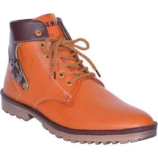 Sukun Tan Ankle Length Casual Shoes For Men (BBTBKLTAN)
