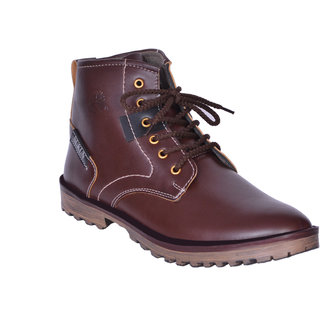 Sukun Brown Ankle Length Casual Shoes For Men (BBTSDBRN)