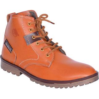 Sukun Tan Ankle Length Casual Shoes For Men (BBTSDTAN)