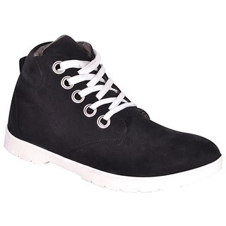Sukun Black Casual Shoes For Men (DZR444BLK)