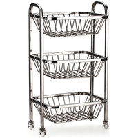 Steel Fruity Rack For Vegetables With Wheel