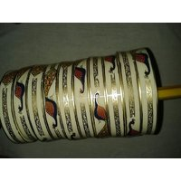 Cream & Golden Acrylic Bangles