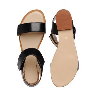 Bruno Manetti Black Sandals (BN-8-Black)