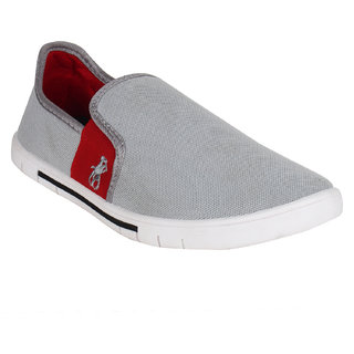 Oricum Men's Grey Slip On Sneakers