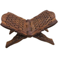 Onlineshoppee Wooden Hand Carved Holy Book Stand (Option 2)
