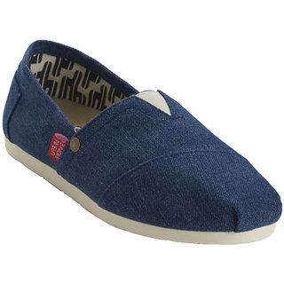 Urban Monkey Dark Blue Canvas Shoes For Women