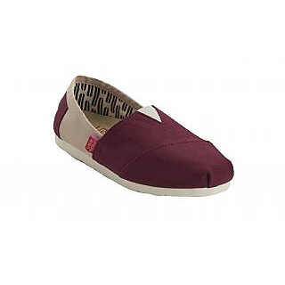 Urban Monkey Red/Beige Canvas Shoes For Women