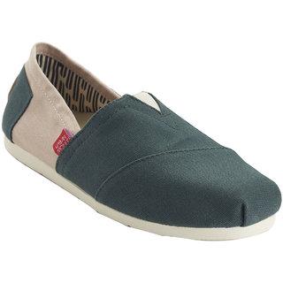 Urban Monkey Green/Beige Canvas Shoes For Women