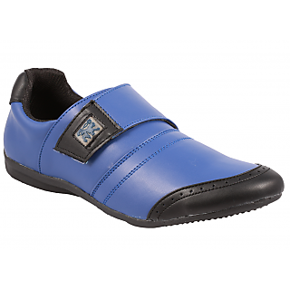 Stylos Mens Blue Black Casual Shoes