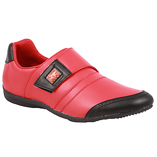 Stylos Mens Red Black Casual Shoes