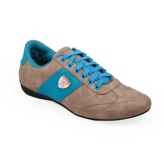 Stylos Mens Grey And Sky Blue Casual Shoes