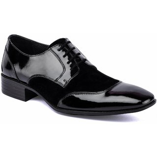 De Scalzo Mens  Black Formal Shoes - 88682588