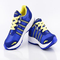 Provogue Mens Mesh Blue  Yellow Sports Shoes Pv1097-blue-yellow
