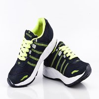 Provogue Mens Mesh Navy  Light Green Sports Shoes Pv1097-navy-lt-green