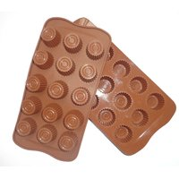 Silicone Chocolate Mould : 15 Cup ( Pack Of 1)