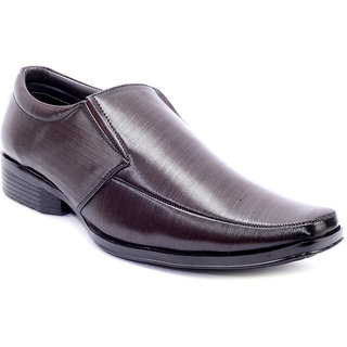 Adams Heel Mens Brown Synthetic Leather Slip On Formal Shoe (PANDS-1000BRM00)