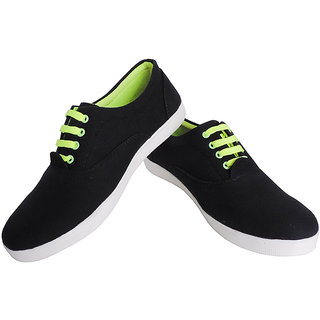 Elligator 1602 Black  Green Stylish Sneaker Shoes For Men