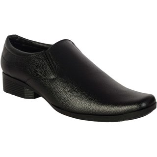 George Adam MenS Black Formal Slip On  Shoes ( 1001 Blak Formal)