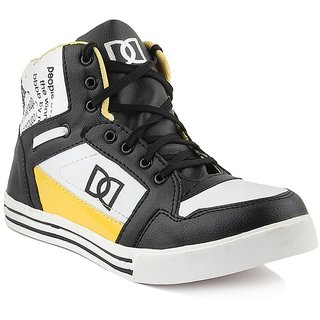 Dox Mens BlackYellow Ankle Length Casual Shoes