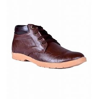 AT Classic Brown Ankle Length Casual Shoe (G)