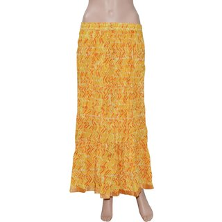Pezzava: Beautiful Design Women's Wear Cotton Lace Work Long Skirt SKT-SCC-A0005