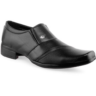 C Fashion Synthetic Leather Shoes For Men Black