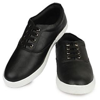 Do Bhai Men Black Casual Shoes (ST-023-Black)