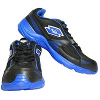 Lotto Men Black And Blue Sports Running Shoes (AR3162 )