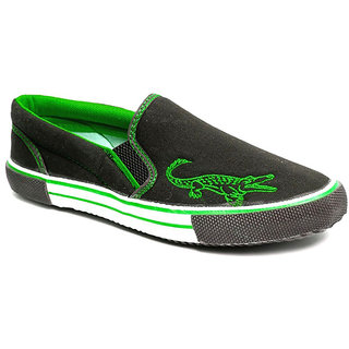 Rexona Men Black Casual Shoes (Rexona-Croco-Black-Green)