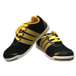 V3 Men Black Casual Shoes (V3-3024-Black-Yellow)