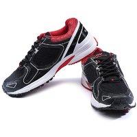 Spunk Men Black  Red Sport Shoes