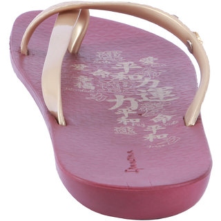 Ipanema-Women-Red/Gold-Flip Flop (25767-21240-US10-RED-GOLD)
