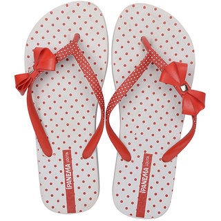 Ipanema-Women-White - Red-Flip Flop (25560-21682-US10-WHITE-RED)