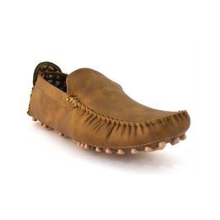 Zoot24 Men Tan Loafers And Moccasins (-7701-CHEEKU)