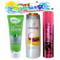 Summer Special Hair & Skin Care Kit(Neem Face Wash+Shampoo+Perfum Deo)