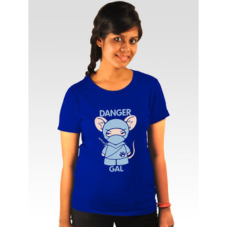 Incynk Women's Danger Gal Tee (Blue)