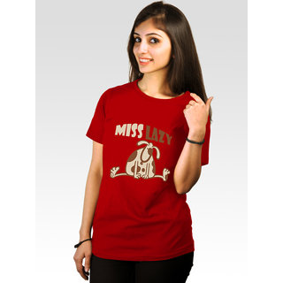 Incynk Women's Miss Lazy Tee (Red)