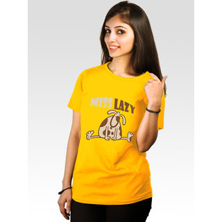 Incynk Women's Miss Lazy Tee (Yellow)