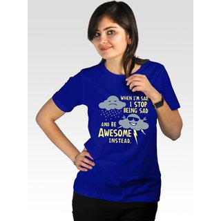 Incynk Women's I Am Awesome Tee (Blue)
