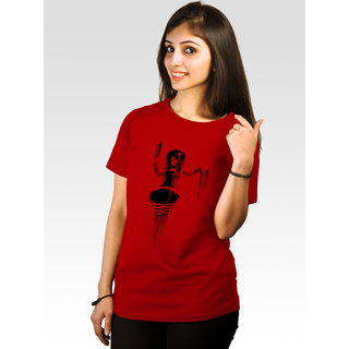 Incynk Women's Punked Tee  (Red)