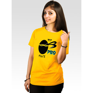 Incynk Women's Pro-Face Tee (Yellow)
