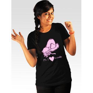 Incynk Women's Love To Cuddle Tee (Black)
